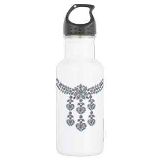 Six Heart Necklace Stainless Steel Water Bottle