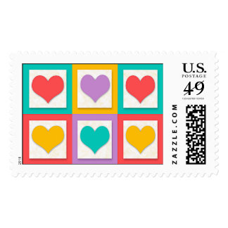 """Six Hearts That Say """"I Love You"""" Postage Stamp"""
