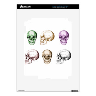 Six Human Skulls multicolored Skins For The iPad 2