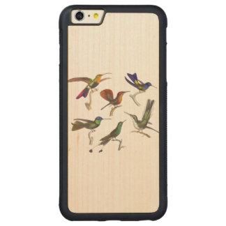 Six Hummingbirds Carved Maple iPhone 6 Plus Bumper Case