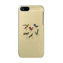 Six Hummingbirds Metallic Phone Case For iPhone SE/5/5s