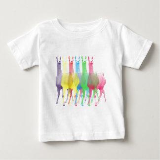 six lamas in six llama colors baby T-Shirt
