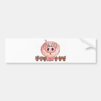 Six Little Pigs Bumper Sticker