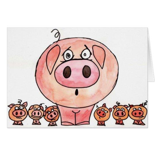 Six Little Pigs Card