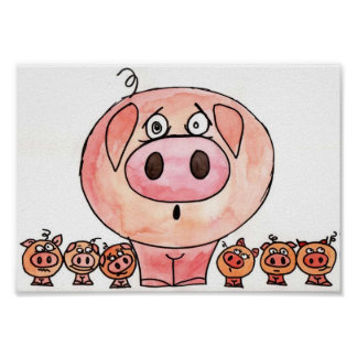 Six Little Pigs Poster
