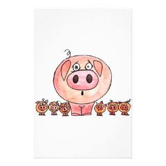 Six Little Pigs Stationery Paper