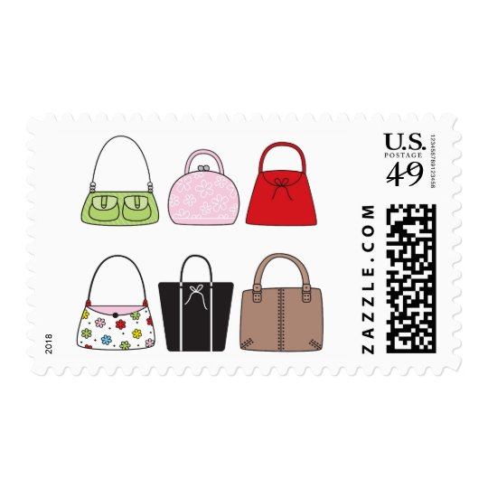 Six Little Purses Postage Stamps
