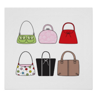 Six Little Purses Poster/Print Poster