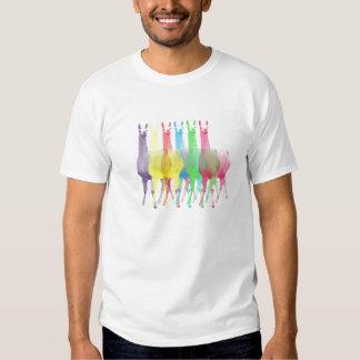 six llamas in six colors t shirt