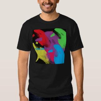 six llamas in six colors tee shirt
