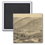 Six Mile Ferry 2 Inch Square Magnet