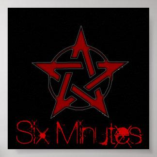 Six Minutes Band Symbol Poster