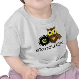 Six Months old adorable Owl T Shirts
