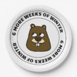 Six more weeks of winter paper plate