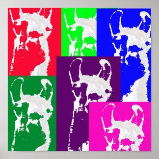 Six Mulitcolored Llamas. Print