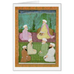 Six Muslim holy men seated on a garden terrace, fr Greeting Cards