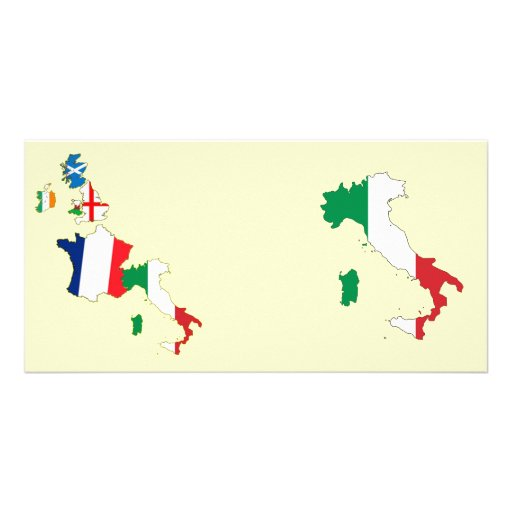 Six Nations - Italy Personalized Photo Card
