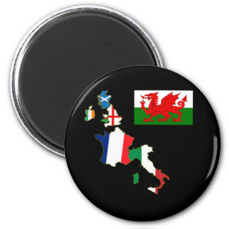 Six Nations Wales 2 Inch Round Magnet