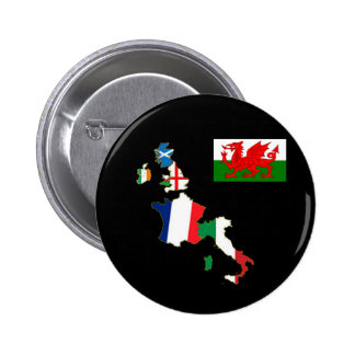 Six Nations Wales Pinback Button