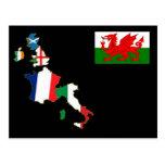 Six Nations Wales Postcard