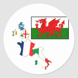 Six Nations Wales Sticker