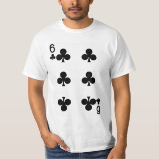Six of Clubs Playing Card T-Shirt
