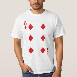 Six of Diamonds Playing Card T-Shirt