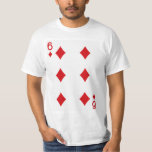 Six of Diamonds Playing Card Tee Shirt