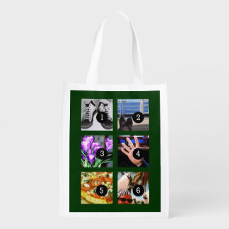 Six of Your Photos to Make Your Own Keepsake Grocery Bag