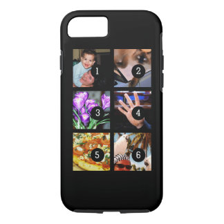 Six of Your Photos to Make Your Own Original Black iPhone 8/7 Case