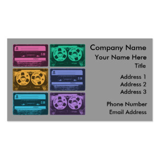 Six Old School Cassette Tapes Business Card
