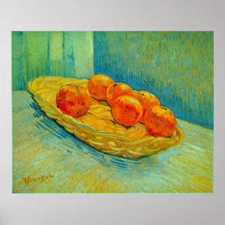 Six Oranges by Vincent Willem van Gogh Posters