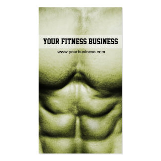 Six Pack Abs Fitness Business Card
