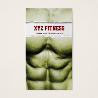 Six Pack Abs Fitness Ripped Business Card