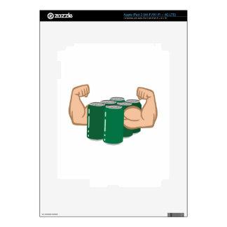 Six Pack Bro iPad 3 Decal