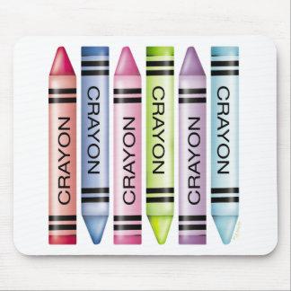 Six Pastel Crayons Mousepads