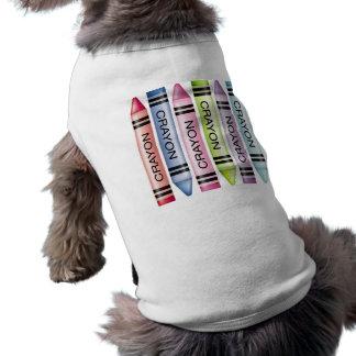 Six Pastel Crayons Pet Shirt