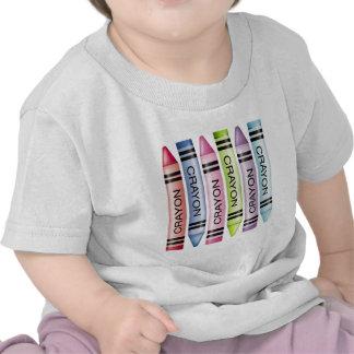Six Pastel Crayons Tee Shirt