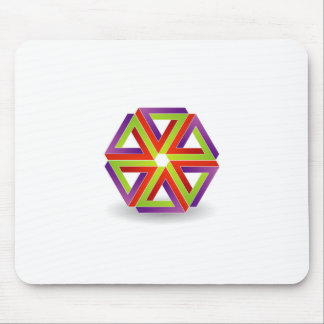 six pen rose triangles to symbolize dynamism mousepads