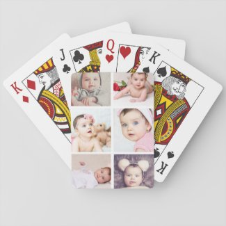 Six Photo Personalized Custom Playing Cards