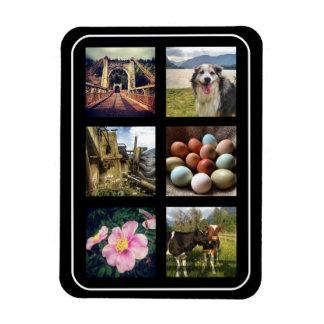 Six Photos Instagram Collage Magnet