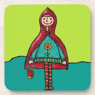 Six Plastic Coasters, Little Red Riding Hood Drink Coaster