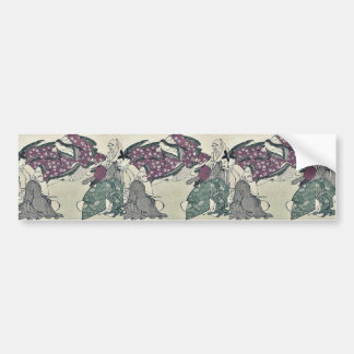 Six poets by Kitagawa, Utamaro Ukiyoe Car Bumper Sticker