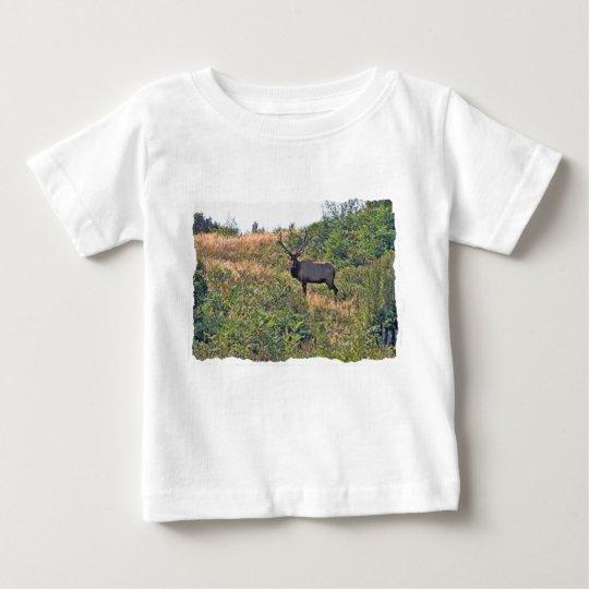 Six Point Elk Photo Baby T-Shirt