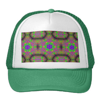 six-point starts hippie groovy trucker hat