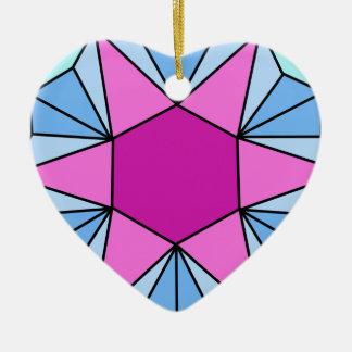 Six Pointed Star Gem1 Ceramic Ornament