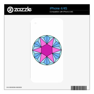 Six Pointed Star Gem1 Decals For The iPhone 4S