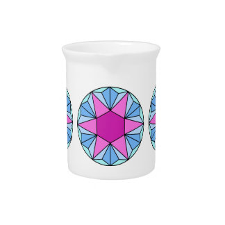 Six Pointed Star Gem1 Drink Pitchers