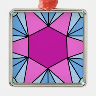 Six Pointed Star Gem1 Metal Ornament