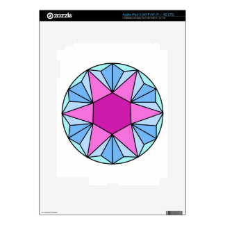 Six Pointed Star Gem1 Skins For iPad 3